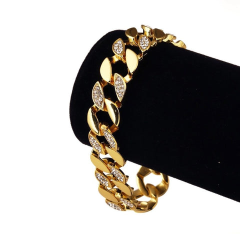 Gold Plated Ice Bracelet