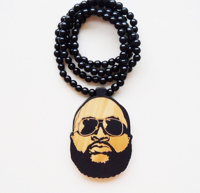 Drug Lord All-Star Wooden Necklace