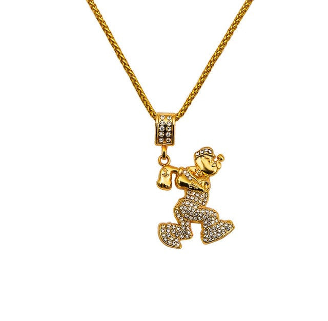 Popeye Pendant and Chain