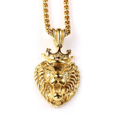 King Lion 18K Gold Plated Necklace