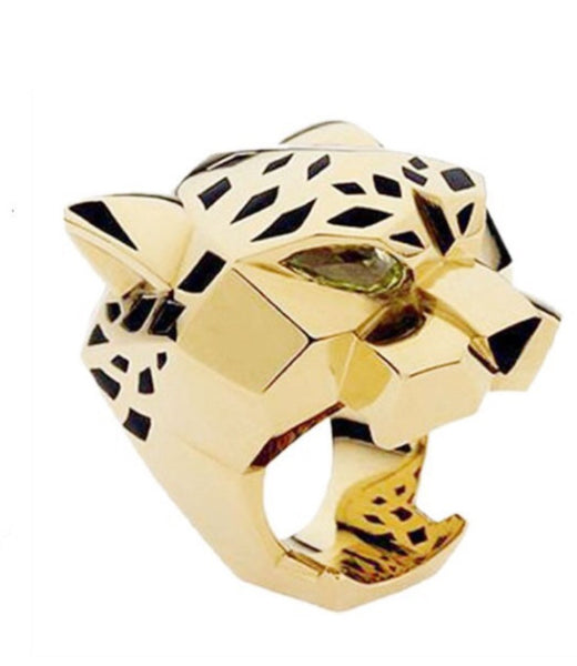 Gold Panther Leopard Style Ring
