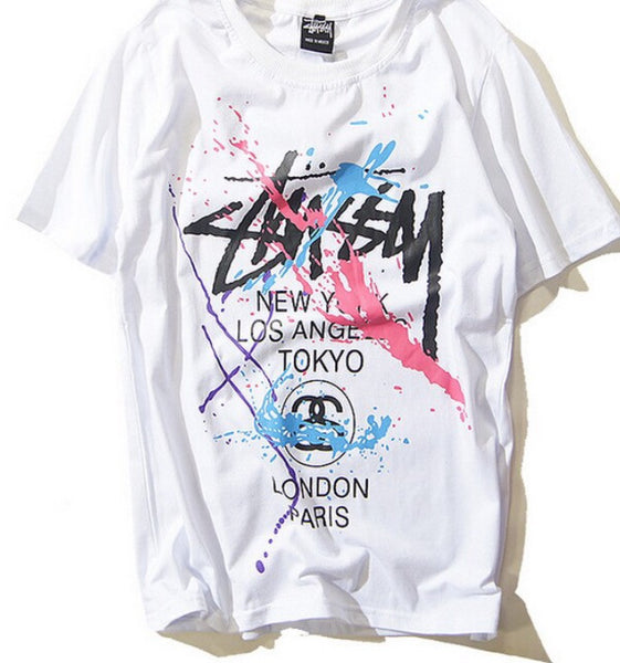 Stussy Wörldwide Splatter Shirt White