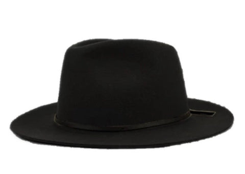 Wide Brim Fedora with Leather Band