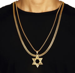 Star of David Gold Necklace