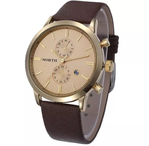 Men's Brown Waterproof Military Watch
