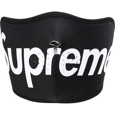 SUPREME Face Mask Black