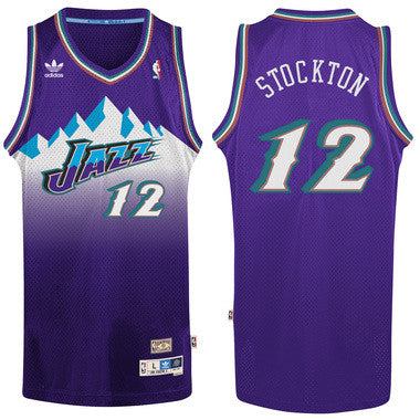 Utah Jazz John Stockton #12 Away Jersey