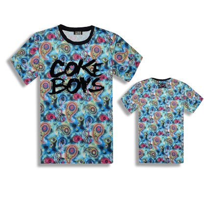 Coke Boys Floral T-Shirts Wallpaper