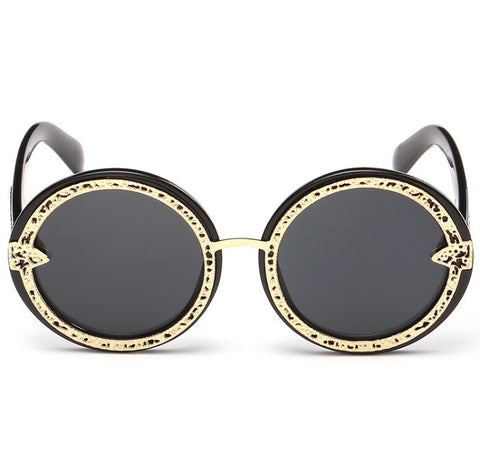 Gold Acetate Sunglasses Black