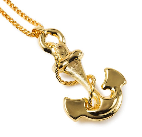 Maritime Anchor 18K Gold Plated Necklace