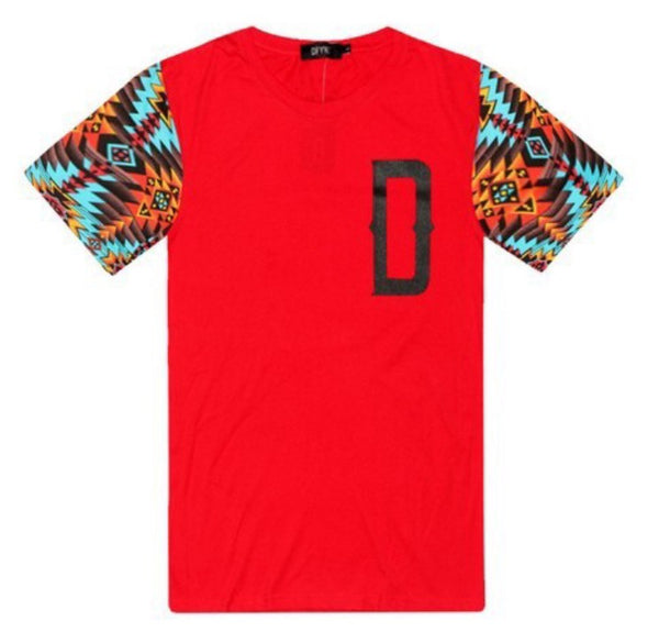DFYNT Aztek Print T-Shirt Red