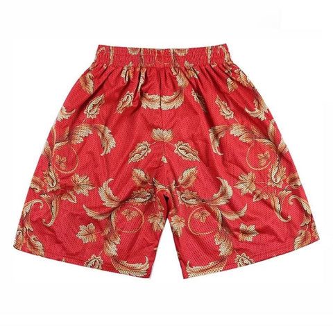 Gold Leaves Mesh Shorts