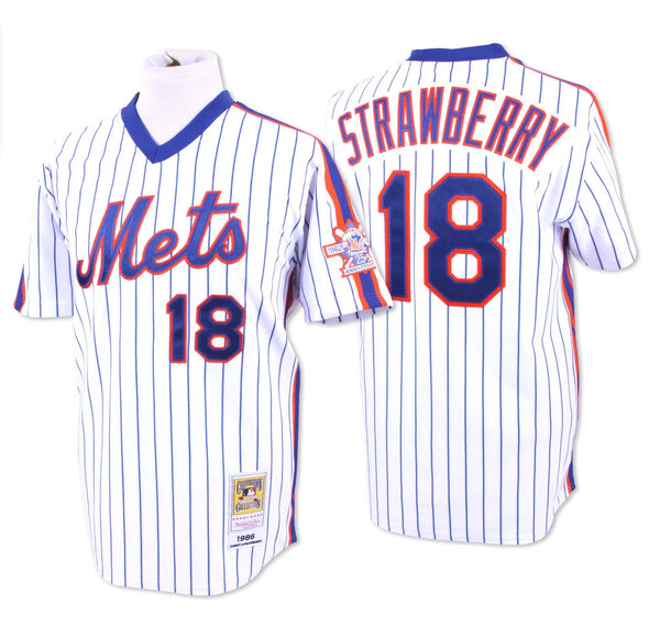 New York Mets Darryl Strawberry #18 Home Throwback Jersey