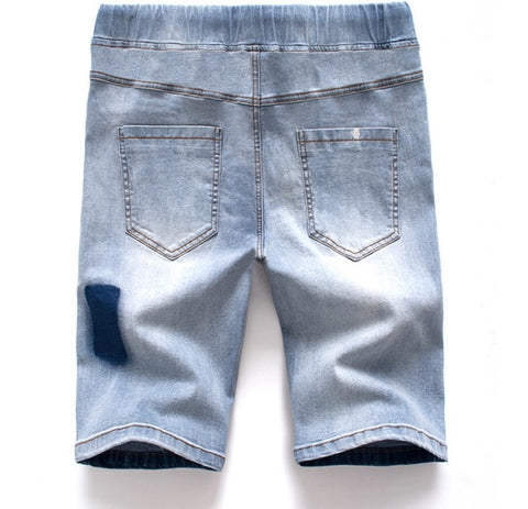 Denim Jogger Streetwear Shorts