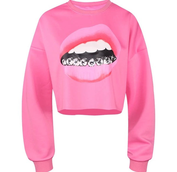Smile For Me Women's Crop Top Pink
