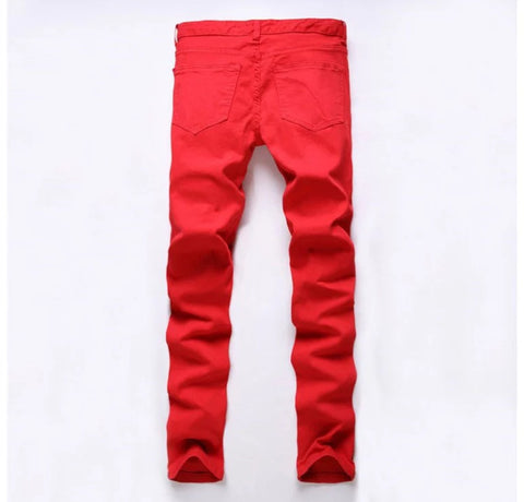 Premium Slim Fit Blood Red Pants