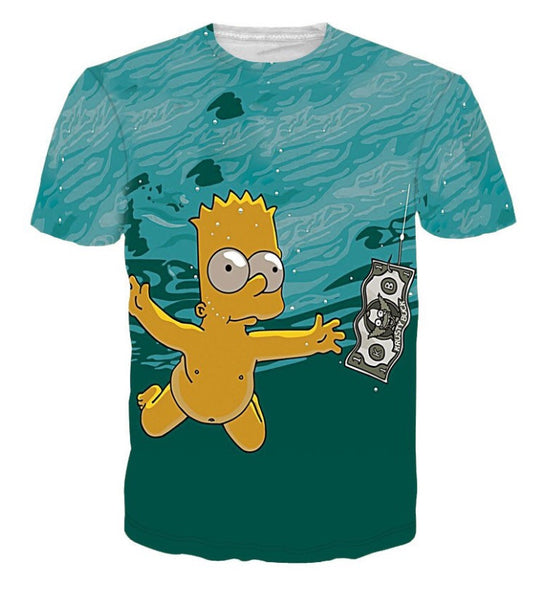 Bart Simpson 'NEVERMIND' T-Shirt
