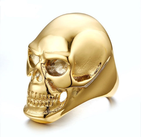 Skull Duggery 18K Gold Plated Ring