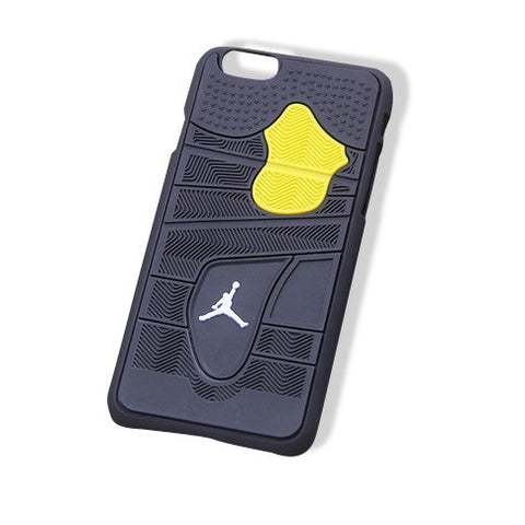 Jordan 4 iPhone 6+ Cases Black