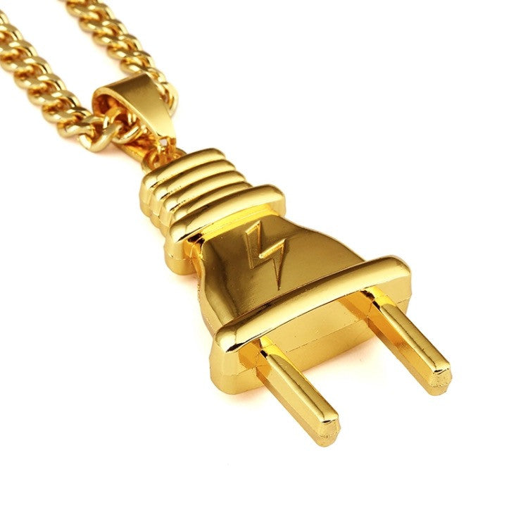 I Am The Plug 18K Gold Plated Necklace