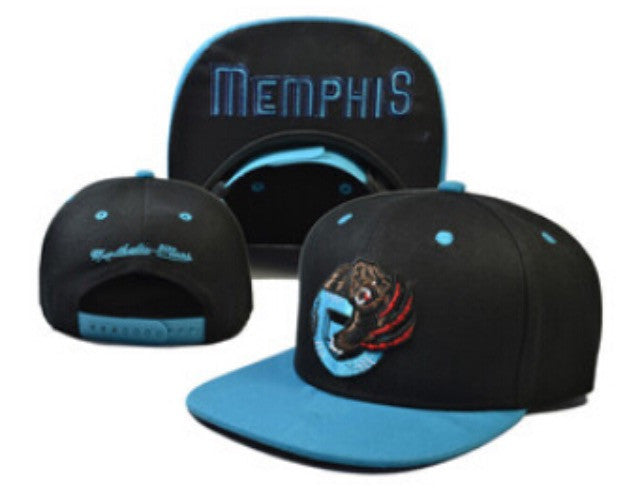 Mitchell & Ness Grizzlies Snapback in Black / Teal