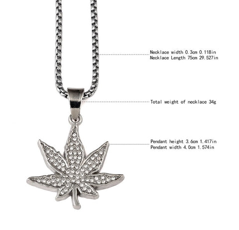 Weed Leaf Silver Chain