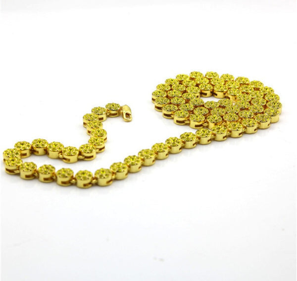 Circle Link Iced Out Chain Canary