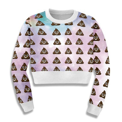 Emoji Cropped Sweatshirts