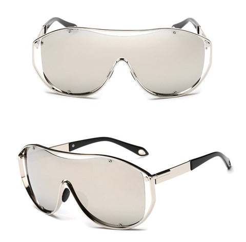 Exhaust Invisible Set Sunglasses Silver