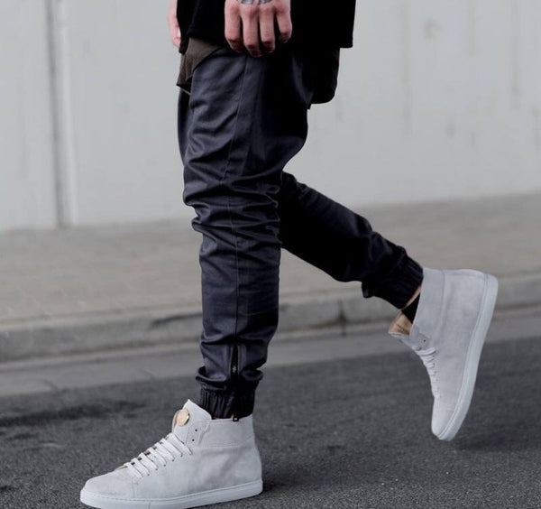 Denim Acetate Joggers Black
