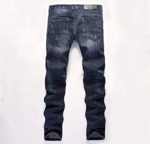 Panther Patch Distressed Streetwear Jeans