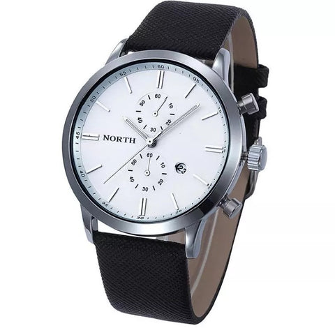 Men's White Waterproof Military Watch
