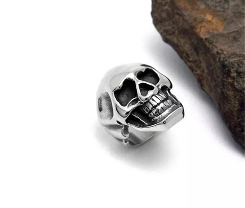 Death & Love Silver Ring