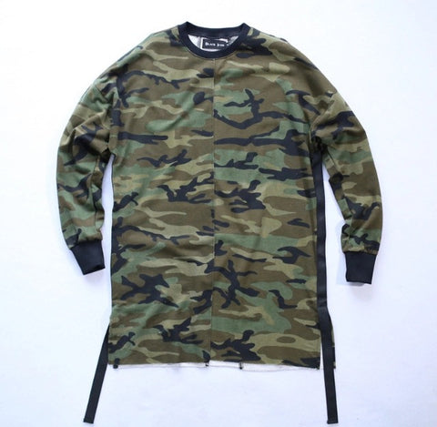 Camo Long Sleeve Couture Shirt