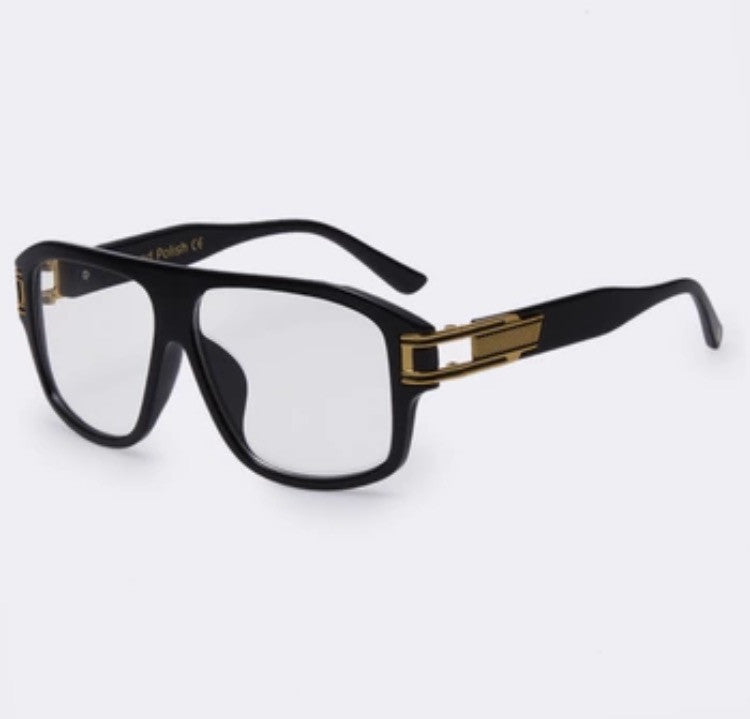 The Corleone Sunglasses Black Clear Lens