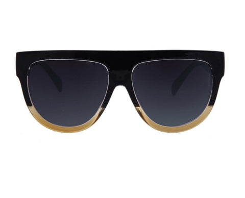 Onyx Hearts Fuse Gradient Sunglasses