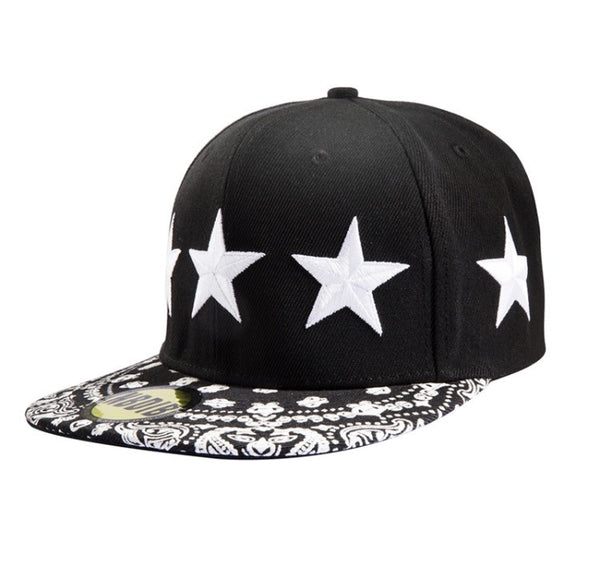 5 Star General Bandana Snapback Black