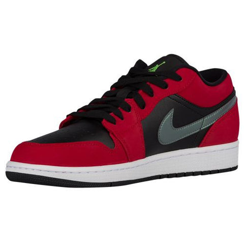 Air Jordan 1 Low Black Green Pulse Gym Red White
