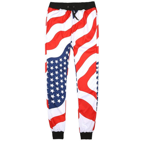 USA City Streetwear Joggers Black Waistband
