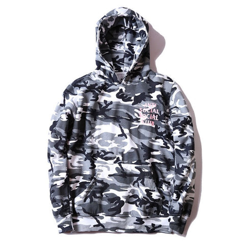 Anti-Social Social Club Snow Camo Hoodie White
