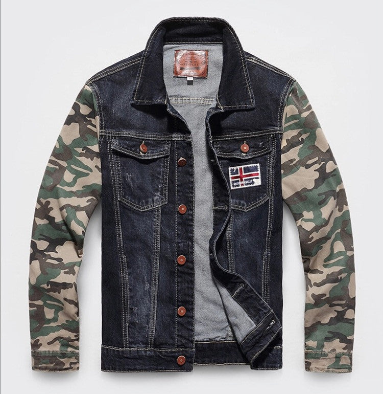 Denim Camo Jacket