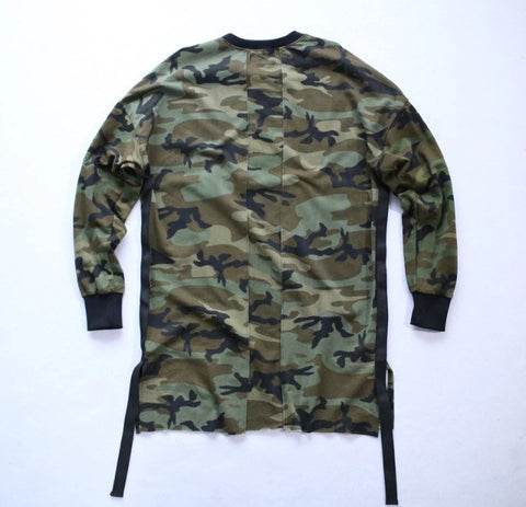 Camo Long Sleeve Couture Shirt Rear
