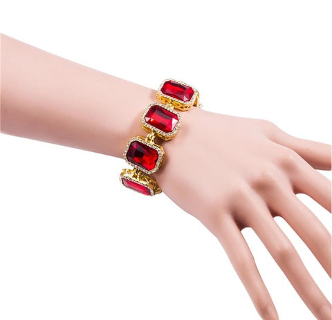 Iced Out 18K Gold Ruby Bracelet Demo