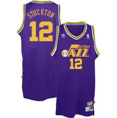 Utah Jazz John Stockton #12 Away Throwback Jersey