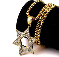Star of David 18K Gold Plated Necklace