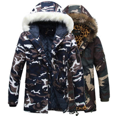 Fur Collar Camo Parka