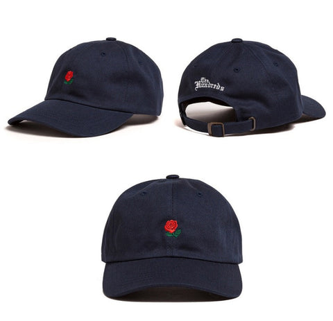 The Hundreds Rose Dad Hat Black