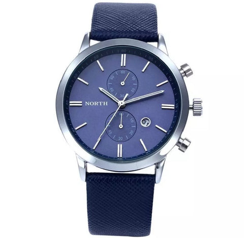 Men's Blue Waterproof Military Watch