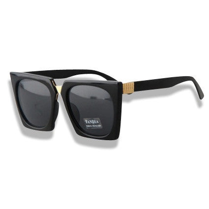 High Fashion Square Style Sunglasses Black