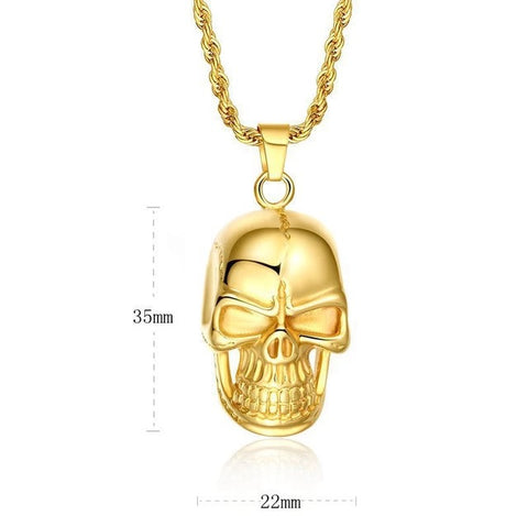 Gold Fury Skull Necklace
